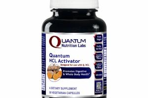 QUANTUM HCL ACTIVATOR PROMOTES DIGESTIVE & WHOLE BODY HEALTH DIETARY SUPPLEMENT VEGETARIAN CAPSULES