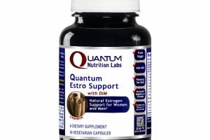 QUANTUM ESTRO SUPPORT WITH DIM NATURAL ESTROGEN SUPPORT FOR WOMEN AND MEN DIETARY SUPPLEMENT VEGETARIAN CAPSULES, CINNAMON