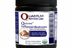 QULTURED ORGANIC, FERMENTED MUSHROOMS WITH ACEROLA, GREEN TEA & GINGER HEALTHY GUT AND DIGESTIVE SUPPORT DIETARY SUPPLEMENT, PROBIOTIC FERMENTED