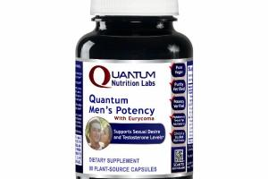 QUANTUM MEN'S POTENCY WITH EURYCOMA SUPPORTS SEXUAL DESIRE AND TESTOSTERONE LEVELS DIETARY SUPPLEMENT PLANT-SOURCE CAPSULES