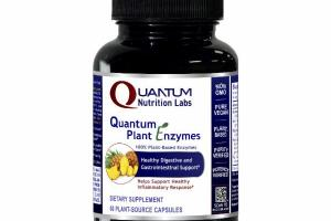 QUANTUM PLANT ENZYMES HEALTHY DIGESTIVE AND GASTROINTESTINAL SUPPORT DIETARY SUPPLEMENT PLANT-SOURCE CAPSULES