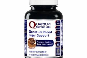 QUANTUM PROMOTES HEALTHY BLOOD SUGAR SUPPORT DIETARY SUPPLEMENT VEGETARIAN CAPSULES, CINNAMON BARK