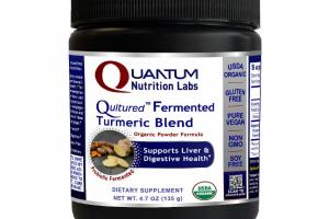 QULTURED PROBIOTIC FERMENTED TURMERIC BLEND ORGANIC POWDER FORMULA SUPPORTS LIVER & DIGESTIVE HEALTH DIETARY SUPPLEMENT