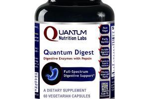 QUANTUM DIGEST FULL-SPECTRUM DIGESTIVE SUPPORT DIETARY SUPPLEMENT VEGETARIAN CAPSULES