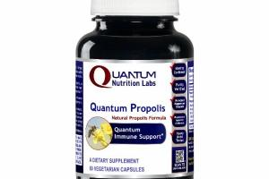 QUANTUM NATURAL PROPOLIS FORMULA IMMUNE SUPPORT DIETARY SUPPLEMENT VEGETARIAN CAPSULES