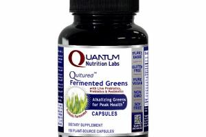 QULTURED FERMENTED GREENS WITH LIVE PROBIOTICS, PREBIOTICS & POSTBIOTICS ALKALIZING GREENS FOR PEAK HEALTH DIETARY SUPPLEMENT PLANT-SOURCE CAPSULES, PROBIOTIC FERMENTED