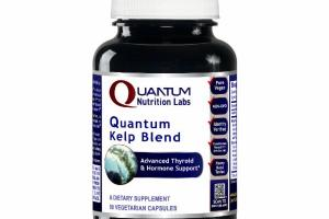 QUANTUM KELP BLEND ADVANCED THYROID & HORMONE SUPPORT DIETARY SUPPLEMENT VEGETARIAN CAPSULES