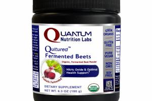QULTURED ORGANIC, FERMENTED BEET POWDER NITRIC OXIDE & OPTIMAL HEALTH SUPPORT DIETARY SUPPLEMENT, PROBIOTIC FERMENTED