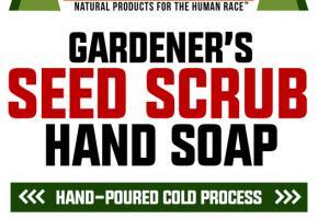 GARDENER'S SEED SCRUB HAND SOAP