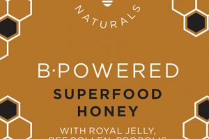 B-POWERED SUPERFOOD HONEY WITH ROYAL JELLY, BEE POLLEN, PROPOLIS DIETARY SUPPLEMENT