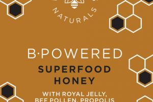 B-POWERED SUPERFOOD HONEY WITH ROYAL JELLY, BEE POLLEN, PROPOLIS