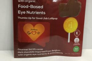 Sea Salt Dark Chocolate With Organic Food-based Eye Nutrients