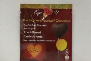 Heart Shaped Chocolate Eye Lollipop