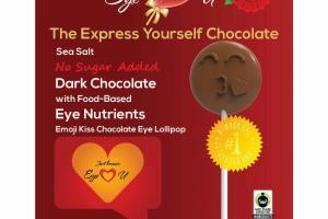 EMOJI KISS DARK CHOCOLATE EYE LOLLIPOP