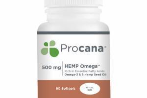 HEMP OMEGA 500 MG RICH IN ESSENTIAL FATTY ACIDS OMEGA 3 & 6 HEMP SEED OIL SOFTGELS