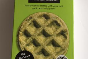 Garlicky Greens Waffles