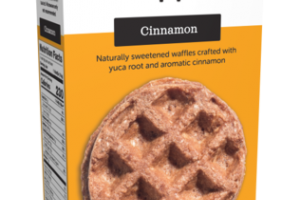 CINNAMON NATURALLY SWEETENED WAFFLES CRAFTED WITH YUCA ROOT AND AROMATIC CINNAMON