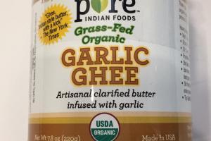 Grass-fed Organic Garlic Ghee