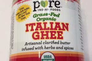 Grass-fed Organic Italian Ghee
