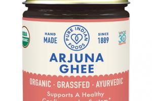 ORGANIC ARJUNA SUPPORTS A HEALTHY CARDIOVASCULAR SYSTEM DIETARY SUPPLEMENT GHEE