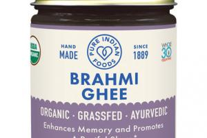 ORGANIC ENHANCES MEMORY AND PROMOTES A RESTFUL SLEEP BRAHMI DIETARY SUPPLEMENT GHEE