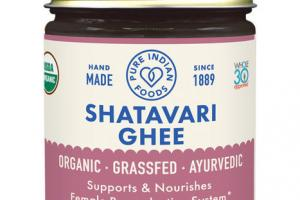 ORGANIC SHATAVARI GHEE SUPPORTS & NOURISHES FEMALE REPRODUCTIVE SYSTEM DIETARY SUPPLEMENT