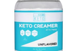 KETO CREAMER MCT OIL POWDER DIETARY SUPPLEMENT, UNFLAVORED