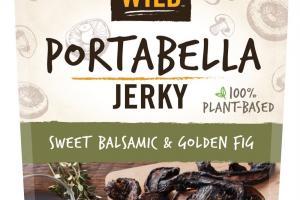 100% Plant-based Sweet Balsamic & Golden Fig Portabella Jerky