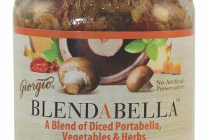 A Blend Of Diced Portabella, Vegetables & Herbs