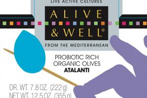 Probiotic Rich Organic Olives Atalanti