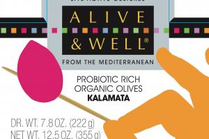 Probiotic Rich Organic Olives