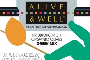 Probiotic Rich Organic Olives Greek Mix