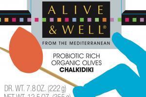 Probiotic Rich Organic Olives Chalkidiki