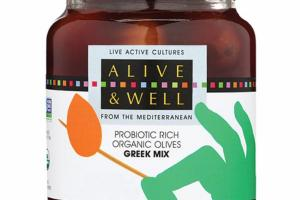 GREEK MIX PROBIOTIC RICH ORGANIC OLIVES