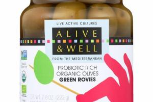 GREEN ROVIES PROBIOTIC RICH ORGANIC OLIVES