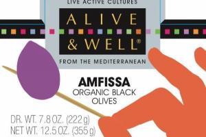 AMFISSA ORGANIC BLACK OLIVES