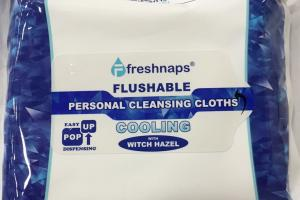 Flushable Personal Cleansing Cooling Cloths