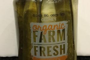 Organic Farm Fresh Kosher Dill Spears