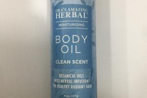 Body Oil Clean Scent