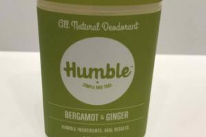 ALL NATURAL DEODORANT, BERGAMOT & GINGER