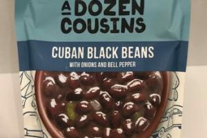 MILD CUBAN BLACK BEANS WITH ONIONS AND BELL PEPPER