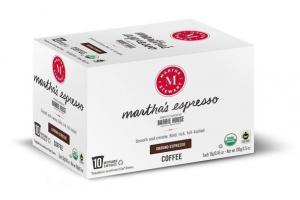 MARTHA'S GROUND ESPRESSO COFFEE RECYCLABLE CAPSULES
