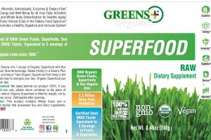 Superfood Raw Dietary Supplement