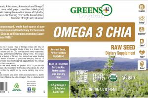 Omega 3 Chia Raw Seed Dietary Supplement