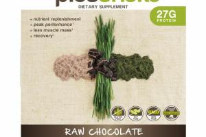 RAW CHOCOLATE MEAL REPLACEMENT DIETARY SUPPLEMENT