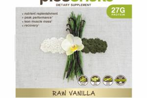 RAW VANILLA MEAL REPLACEMENT WHOLE FOOD BLEND DIETARY SUPPLEMENT