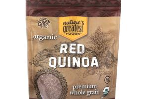ORGANIC PREMIUM WHOLE GRAIN RED QUINOA
