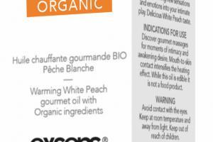 Organic Warming White Peach Gourmet Oil