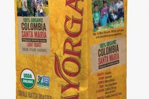 100% Organic Colombia Santa Maria Whole Bean Coffee