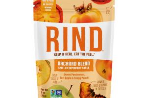 SWEET PERSIMMON, TART APPLE & TANGY PEACH ORCHARD BLEND SKIN-ON SUPERFRUIT SNACK